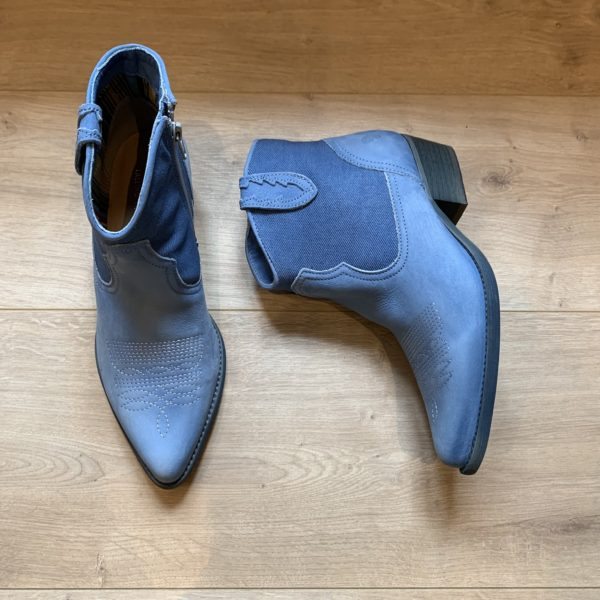 chaussure santiags bleu felmini