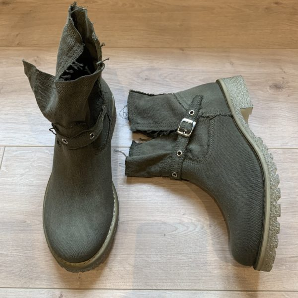 chaussures boots kaki felmini