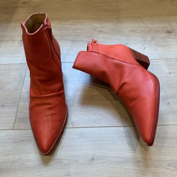 chaussures santiags rouge corail Felmini