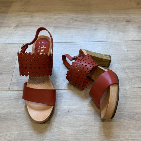 chaussures sandale à talon rouge Felmini