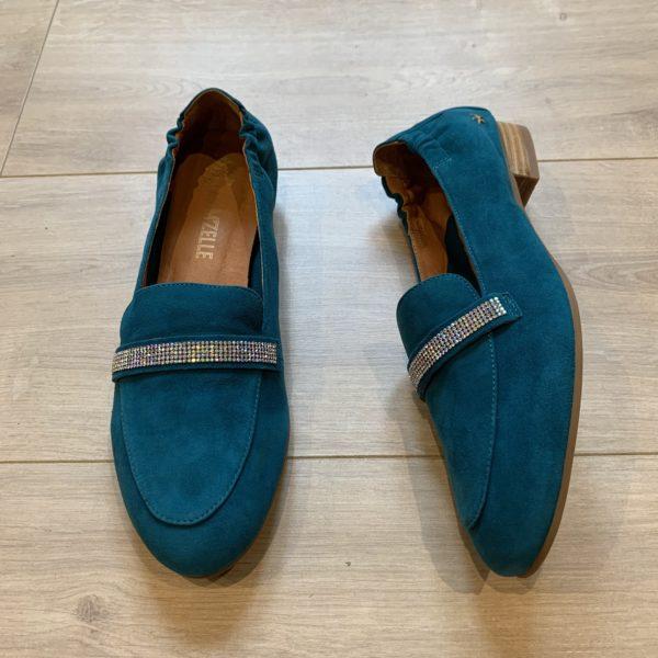 chaussures derbies bleu felmini