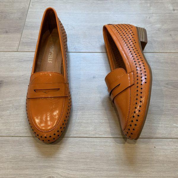 chaussures derbies orange