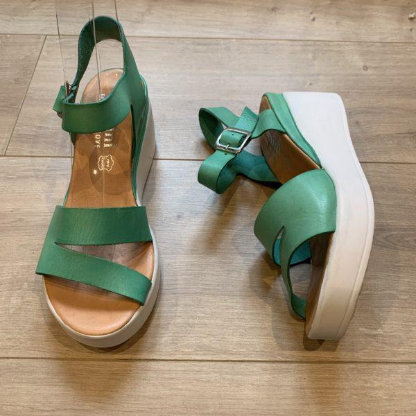 chaussures sandale à plateforme emmeraude