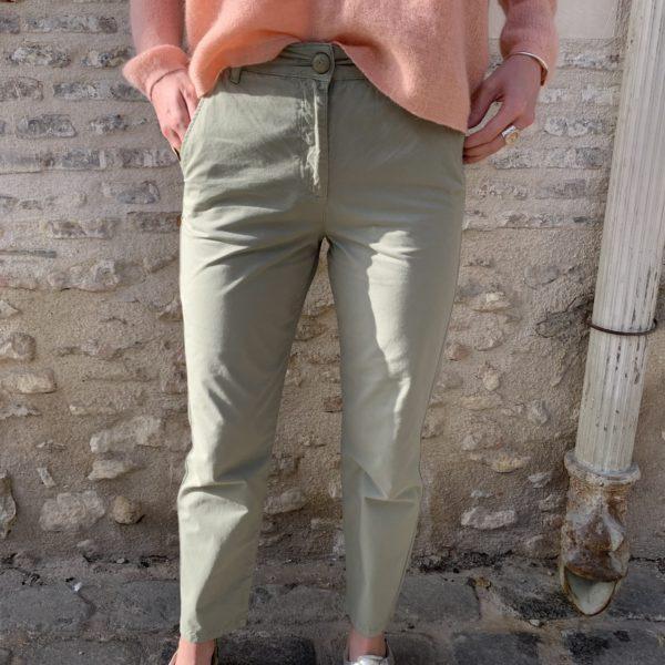 pantalon vert amande Des Petits Hauts