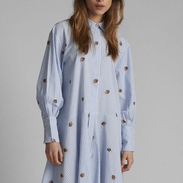 robe bleu ciel fleurie Nulo-ou