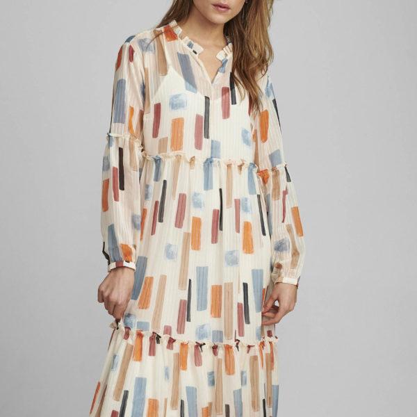 robe longueur midi patchwork