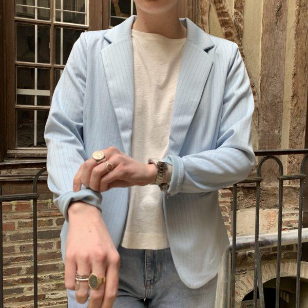 veste blazer bleu ciel