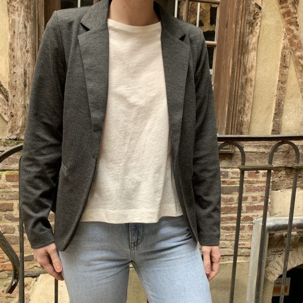 veste blazer gris foncé