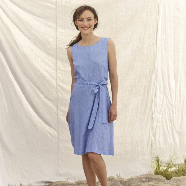 robe bleu à nouer