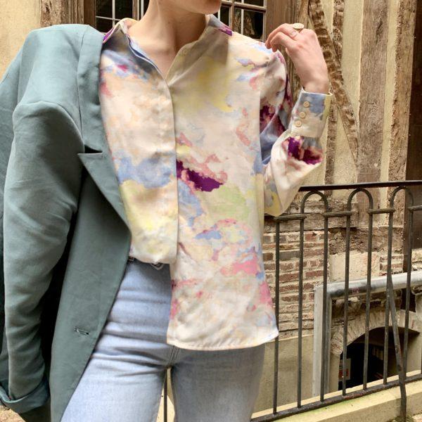 chemise taches aquarelles